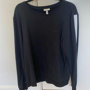 Adidas Neo Stripe All Black Sweatshirt